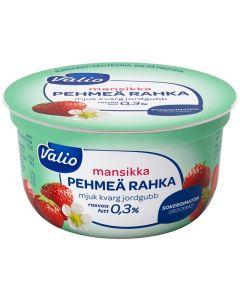 VALIO PEHMEÄ RAHKA MANSIKKA 150G SOKEROIMATON