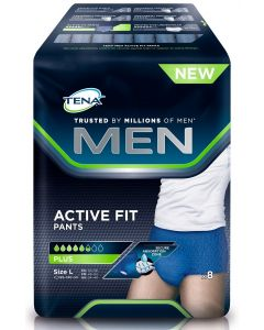 TENA MEN ACTIVE FIT PANTS INKOHOUSU L HOUSUMALLI 8KPL
