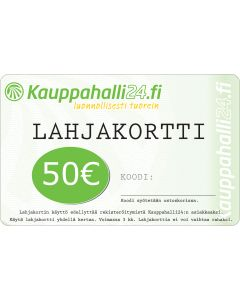 E-LAHJAKORTTI 50 EUR KAUPPAHALLI24