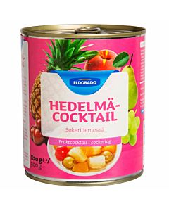 ELDORADO HEDELMÄCOCKTAIL 820/480G SOKERILIEMESSÄ