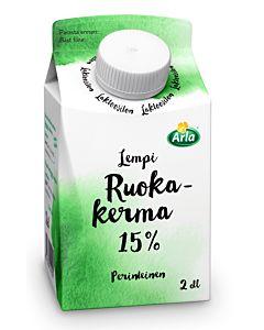 ARLA LEMPI RUOKAKERMA 15% 2DL LAKTOOSITON