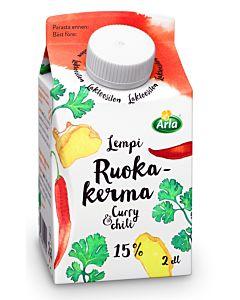 ARLA LEMPI RUOKAKERMA CURRY&CHILI 15% 2DL LAKTOOSITON