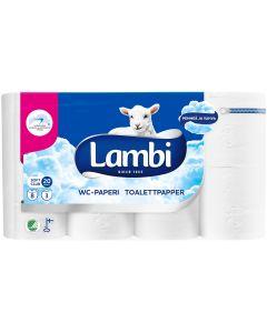LAMBI TOILET WC-PAPERI VALKOINEN 8 RULLAA