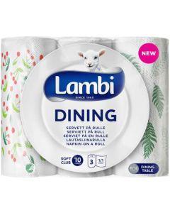 LAMBI DINING LAUTASLIINARULLA 3 RULLAA