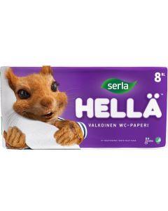 SERLA WC-PAPERI HELLÄ VALKOINEN 8 RULLAA