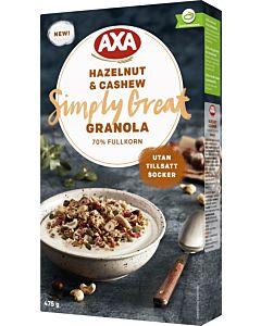 AXA GRANOLA 475G HAZELNUT & CASHEW
