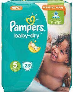 PAMPERS BABY DRY TEIPPIVAIPPA KOKO 5 11-23KG 23KPL