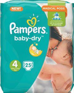 PAMPERS BABY DRY TEIPPIVAIPPA KOKO 4 8-16KG 25KPL