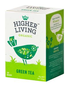 HIGHER LIVING GREEN TEA LUOMU VIHREÄ TEE 20PSS