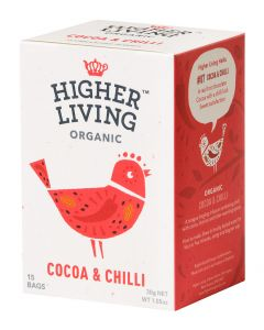HIGHER LIVING COCOA AND CHILI LUOMU MAKEA CHILI YRTTITEE 15PSS