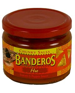 BANDEROS CHUNKY SALSA 300G HOT TOMATO AND PEPPER SAUCE