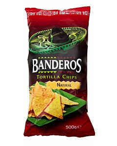BANDEROS TORTILLA CHIPS 500G NATURAL MAISSILASTU