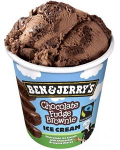 PAKASTE BEN & JERRYS CHOCOLATE FUDGE BROWNIE 500ML
