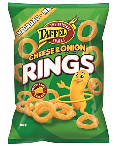 TAFFEL CHEESE & ONION RINGS JUUSTORINKULAT 160G