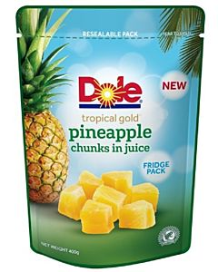 DOLE TROPICAL GOLD ANANASPALAT MEHUSSA 400/220G PUSSI