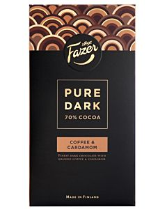 FAZER PURE DARK 70% COFFEE & CARDAMOM TUMMA SUKLAA 95G