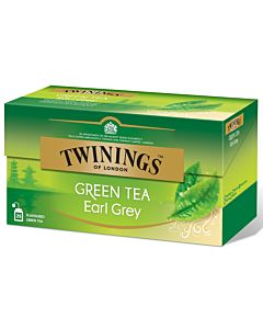 TWININGS 25PS/40G EARL GREY GREEN TEA