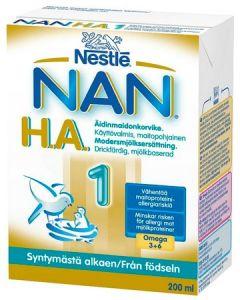 NAN H.A. 1, 200ML HYPOALLERGEENINEN ÄIDINMAIDONKORVIKE