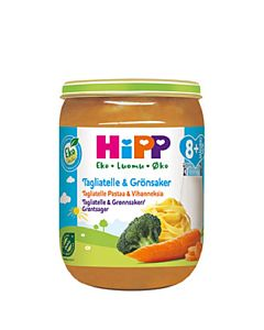 HIPP 190G LUOMU TAGLIATELLE & VIHANNEKSIA 8+
