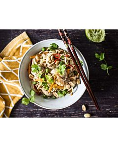 Resepti- Kana-nuudelikulho limellä ja korianterilla