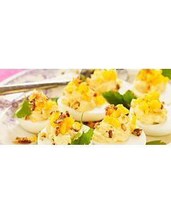 Resepti-Katkaraputäytteiset kananmunat