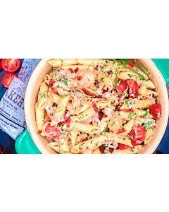 Resepti-Ruokaisa kinkku-pastasalaatti