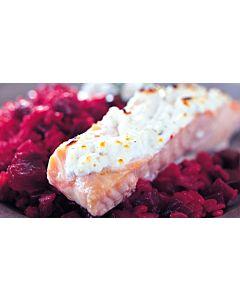 Resepti-Välimerellinen lohi punajuuririsotolla