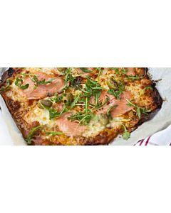 Resepti- Kylmäsavulohi-mozzarellapizza