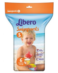 LIBERO SWIMPANTS UIMAVAIPPA SMALL  (7-12 KG) 6KPL