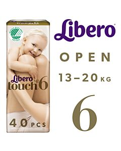 LIBERO TOUCH TEIPPIVAIPPA KOKO 6 (13-20KG) 40KPL