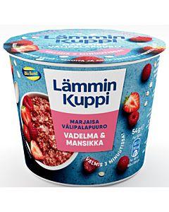 LÄMMIN KUPPI 54G MANSIKKA-VADELMA VÄLIPALAPUURO