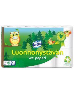LOTUS LUONNONYSTÄVÄN WC-PAPERI 8 RULLAA