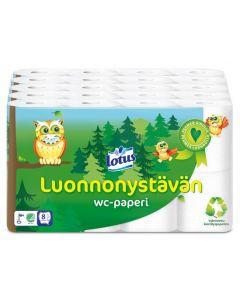 LOTUS LUONNONYSTÄVÄN WC-PAPERI 5X8 RULLAA  SÄKKI