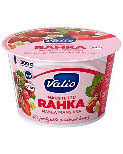 VALIO MAUSTETTU RAHKA 200G MAKEA MANSIKKA LAKTOOSITON