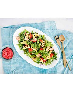 Resepti - Grillijuusto mansikkasalaatti ja jäävinaigrette