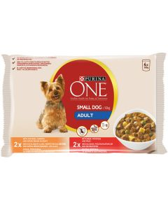 PURINA ONE 4X100G SMALL DOG ADULT KOIRALLE