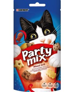 PURINA 60G PARTY MIX MIXED GRILL KISSANHERKKU
