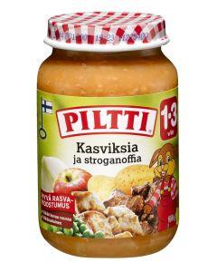 PILTTI 200G KASVISKSIA JA STROGANOFFIA 12KK