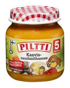 PILTTI 125G KASVIS- NAUDANLIHASOSE 5KK