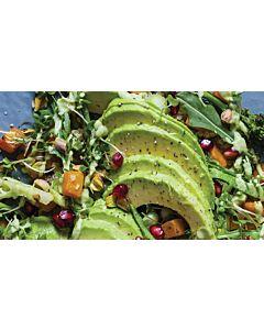 Resepti-Avocadosalaattia, myskikurpitsaa ja kvinoaa