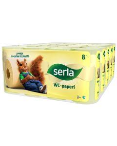 SERLA WC-PAPERI SÄKKI 5X8 RULLAA KELTAINEN
