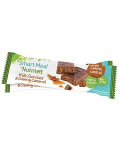 NUTRILETT MILK CHOCOLATE & CREAMY CARAMEL ATERIANKORVIKEPATUKKA 60G