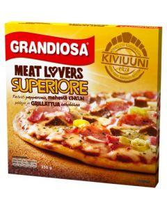 PAKASTE GRANDIOSA SUPERIORE FOR MEAT LOVERS KIVIUUNIPIZZA 350G