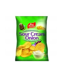 REAL SNACKS 300G SOURCREAM-ONION CHIPS