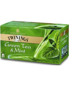 TWININGS 25PS/37.5G GREEN TEA MINT