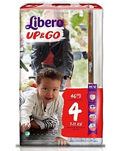 LIBERO UP&GO HOUSUVAIPPA KOKO 4 (7-11 KG) 46KPL