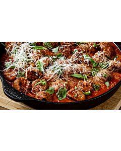Resepti-Uunilihapullat tomaattikastikkeessa