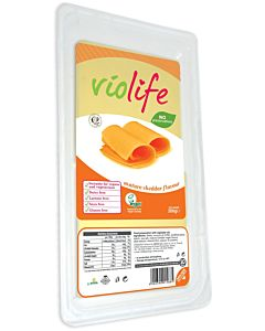 VIOLIFE CHEDDAR FLAVOUR VEGAANINEN CHEDDARTYYPPINEN JUUSTOVIIPALE 200G