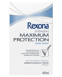 REXONA WOMEN MAXIMUM PROTECTION CLEAN SCENT DEO 45ML