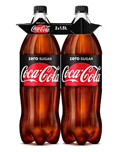 COCA-COLA ZERO SUGAR 1,5L 2-PACK